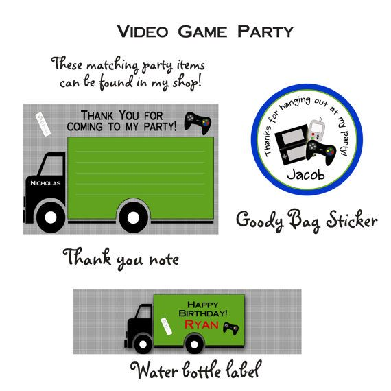 Video game birthday party invitation video game invitation video video game birthday party invitation video game invitation video game party you print or i print stopboris Image collections
