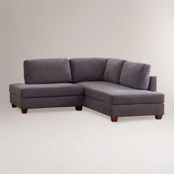 World Market Dark Grey Mini Sectional