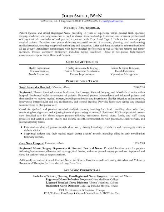 Click Here to Download this Nursing Professional Resume Template - care nurse sample resume