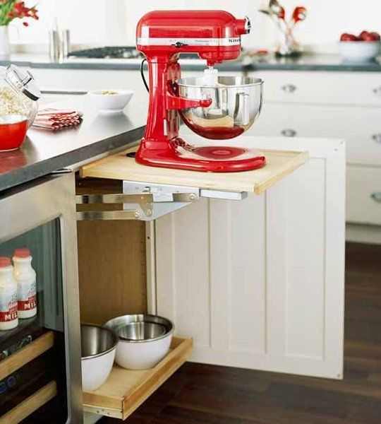 10 Snazzy Ways To Organize And Store Small Appliances U2014 Organizing  Inspiration From The. Red Kitchen AidKitchen ...