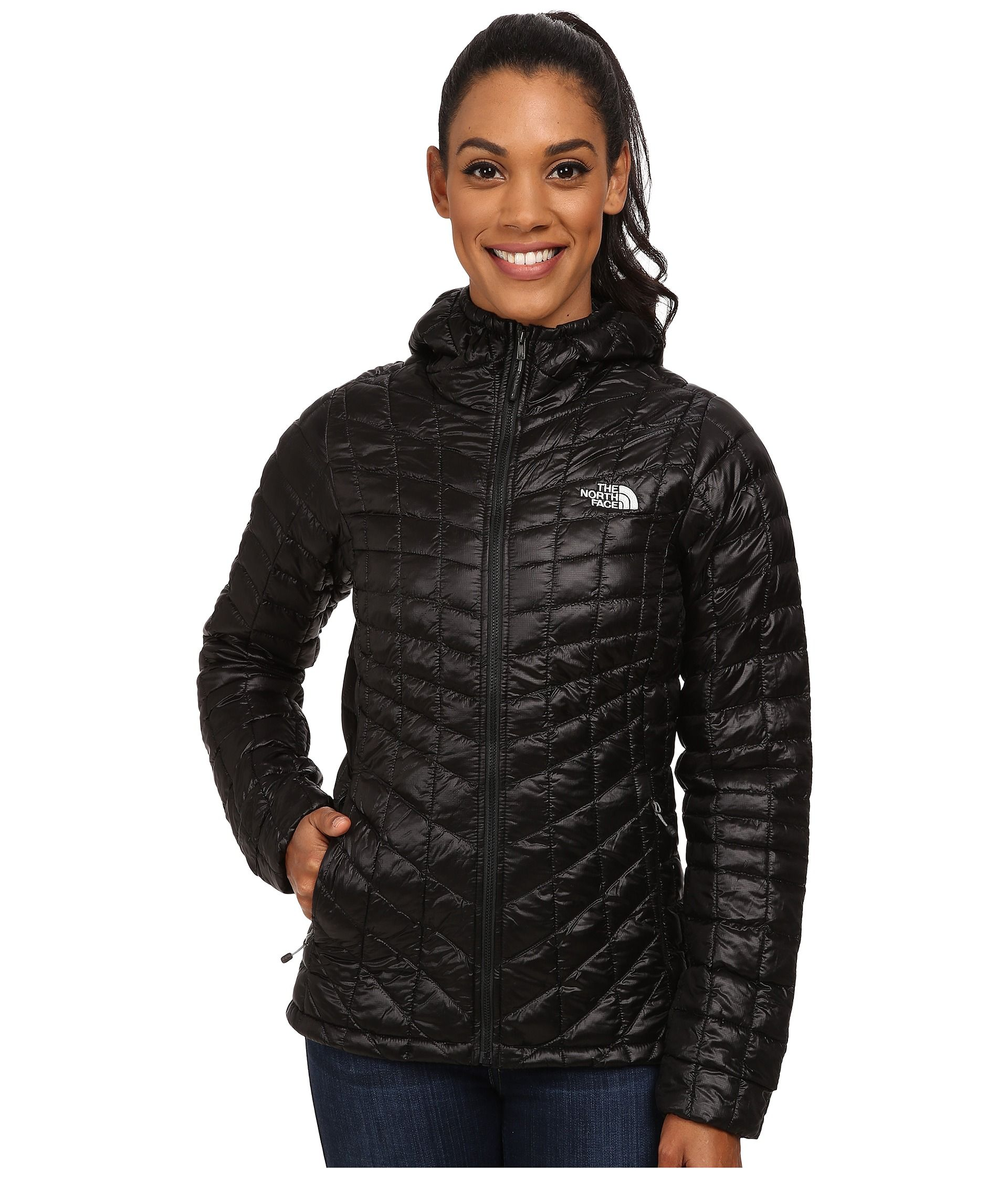 The North Face Thermoball Hoodie Womens Black Coat Black North Face Jacket Coats Jackets Women [ 2240 x 1920 Pixel ]