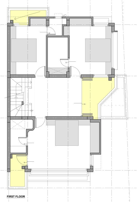 arham residence at surat gujarat house plans house
