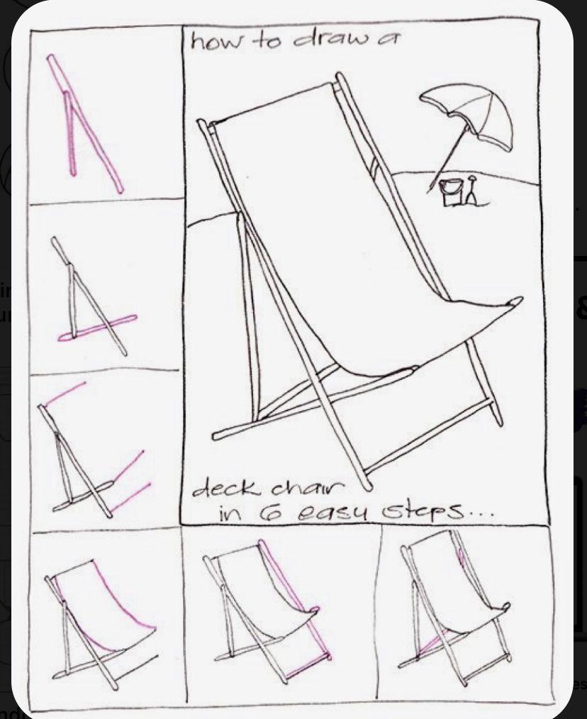 Pin By Leti On Papel Scissors In 2020 Step By Step Drawing Art Chair Chair Drawing