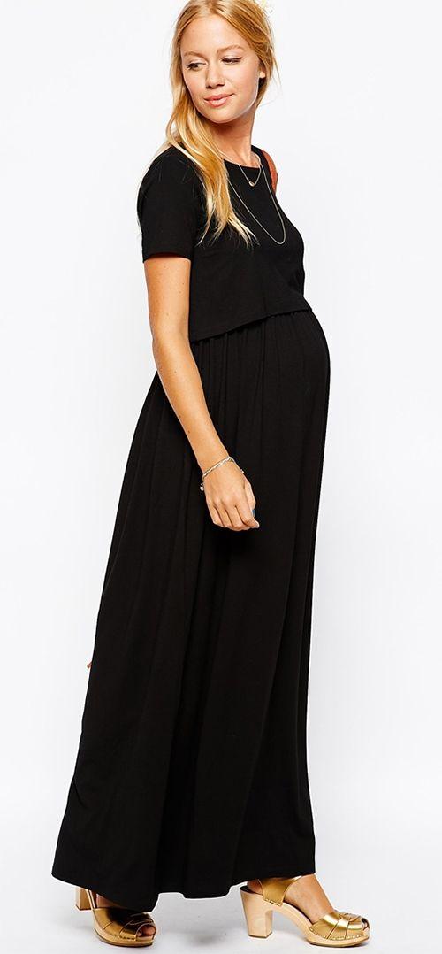 robe longue noire grossesse
