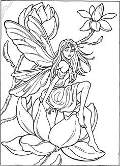 Fairy Coloring Page … | coloring pages | Pinterest | Fairy