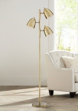 Aaron aged brass 3 light floor lamp amazon com apartment