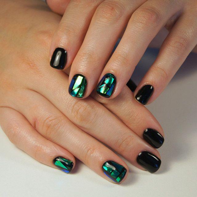 Bright nails ideas, Broken glass on short nails, Disco nail, Evening nails,  Evening nails by gel polish, Fall nail ideas, Modern nails, New year nails  ideas ... - Nail Art #2942 - Best Nail Art Designs Gallery Modern Nails