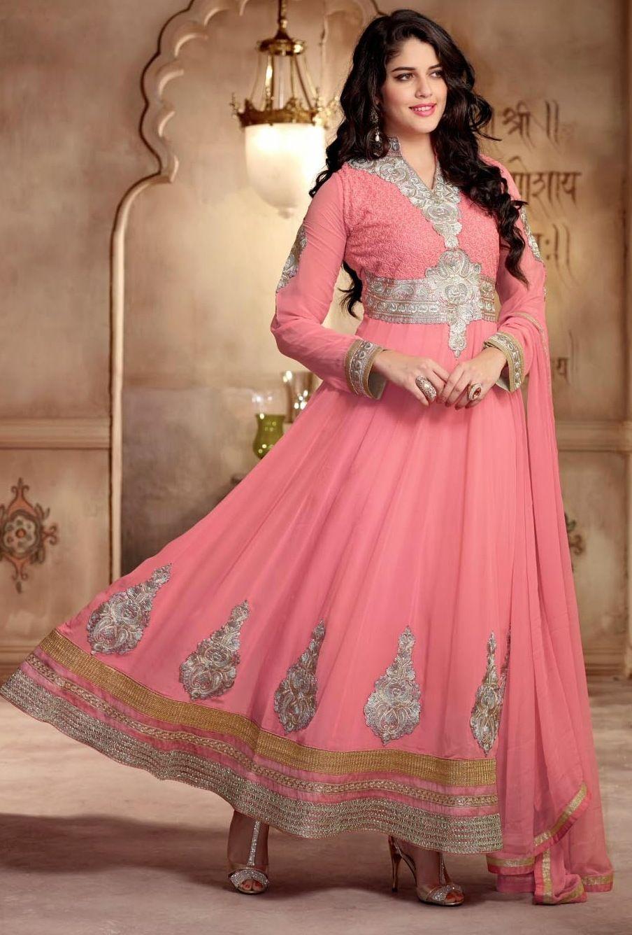 Moderno Trajes Salwar Boda India Ilustración - Colección de Vestidos ...