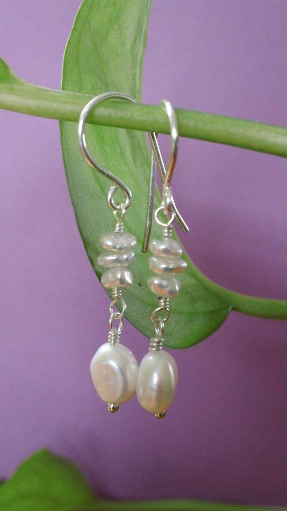 white freshwater pearl earrings boncuk takilar pinterest schmuck silberschmuck und. Black Bedroom Furniture Sets. Home Design Ideas
