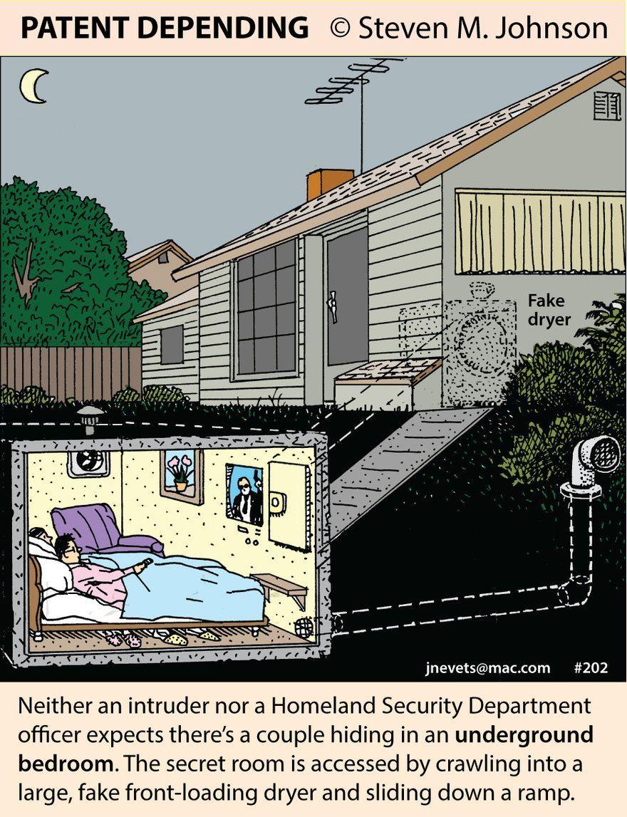 Steven M Johnsons Bizarre Invention 202 The Underground Bedroom Core77 In 2020 Secret Hiding Places Secret Rooms Hidden Rooms