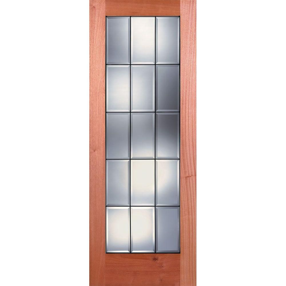 Feather River Doors 32 In X 80 In 15 Lite Unfinished Mahogany