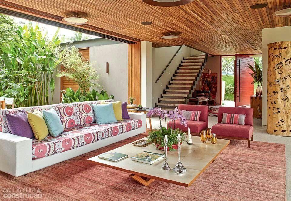 Sala en una casa de campo | Casas de campo, Modelos de ...