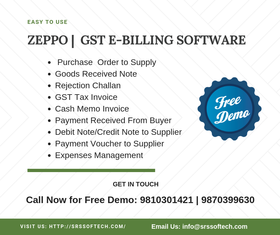 ZEPPO Bill is updated for all your GST billing needs: GSTIN, HSN and