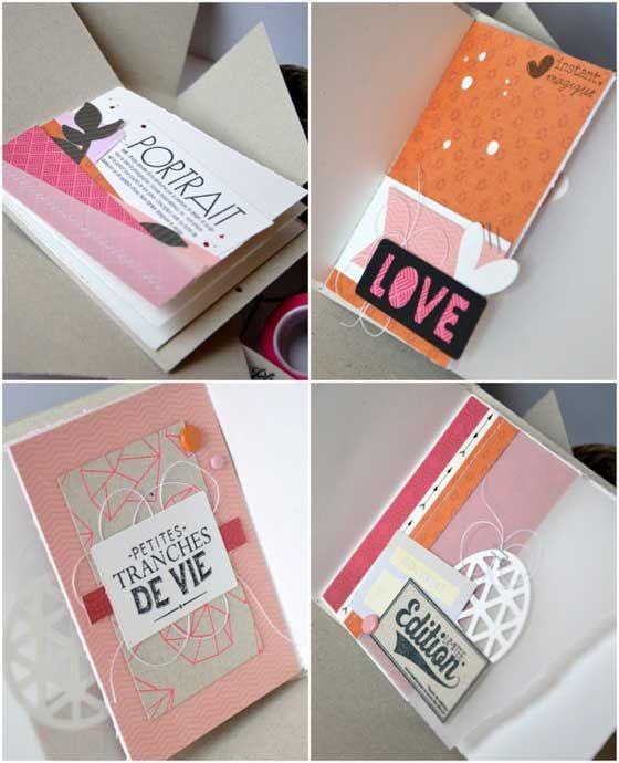 Tuto mini album et sa pochette coordonn e diy id e cadeau facile r alisat - Idee scrapbooking amour ...