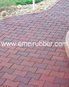 rubber paver garden walkway