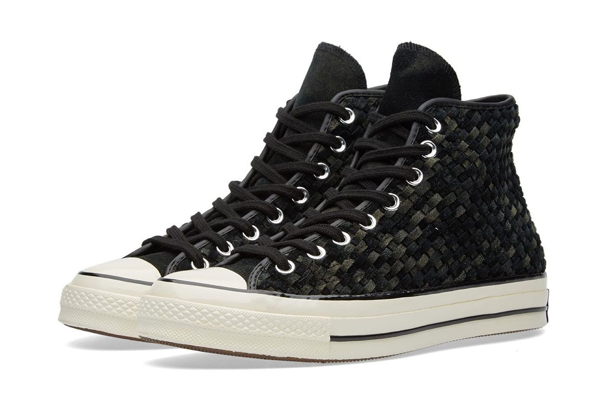 94925769a0f0db For Spring 2016 Converse presents the iconic Chuck Taylor in beautiful woven  suede.