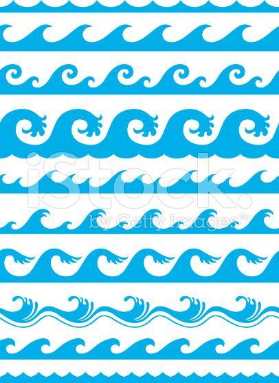 Seamless Ocean Wave Pattern Wave Illustration Ocean Wave Drawing Wave Clipart