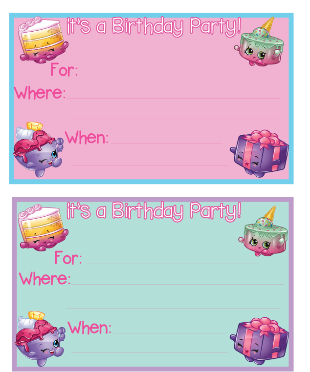 Shopkins Birthday Party Printables – Where Can I Print Birthday Invitations