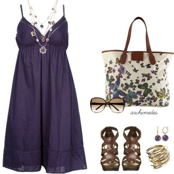 Plum for Summer...add a little cardigan or scarf or not:) Looks fab any way one wears it!
