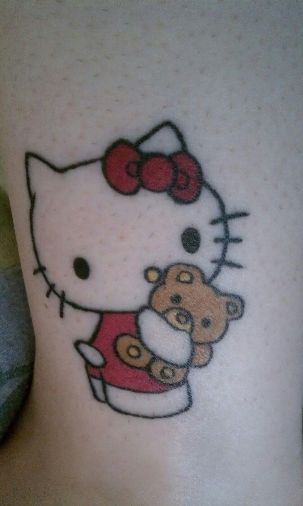 My Hello Kitty Tattoo On Left Ankle Hello Kitty Tattoos Hello Kitty Cat Tattoo