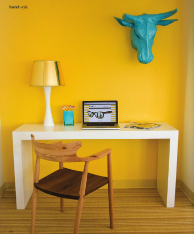Yellow Accent Walllove It With That Shade Of Blue For The