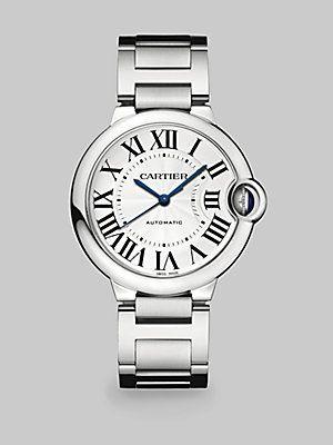 Cartier Ballon Bleu De Cartier Stainless Steel Watch 36mm Jewels