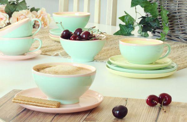 cafe au lait milchkaffee schale tasse ohne henkel melange pastellfarben geschirr. Black Bedroom Furniture Sets. Home Design Ideas