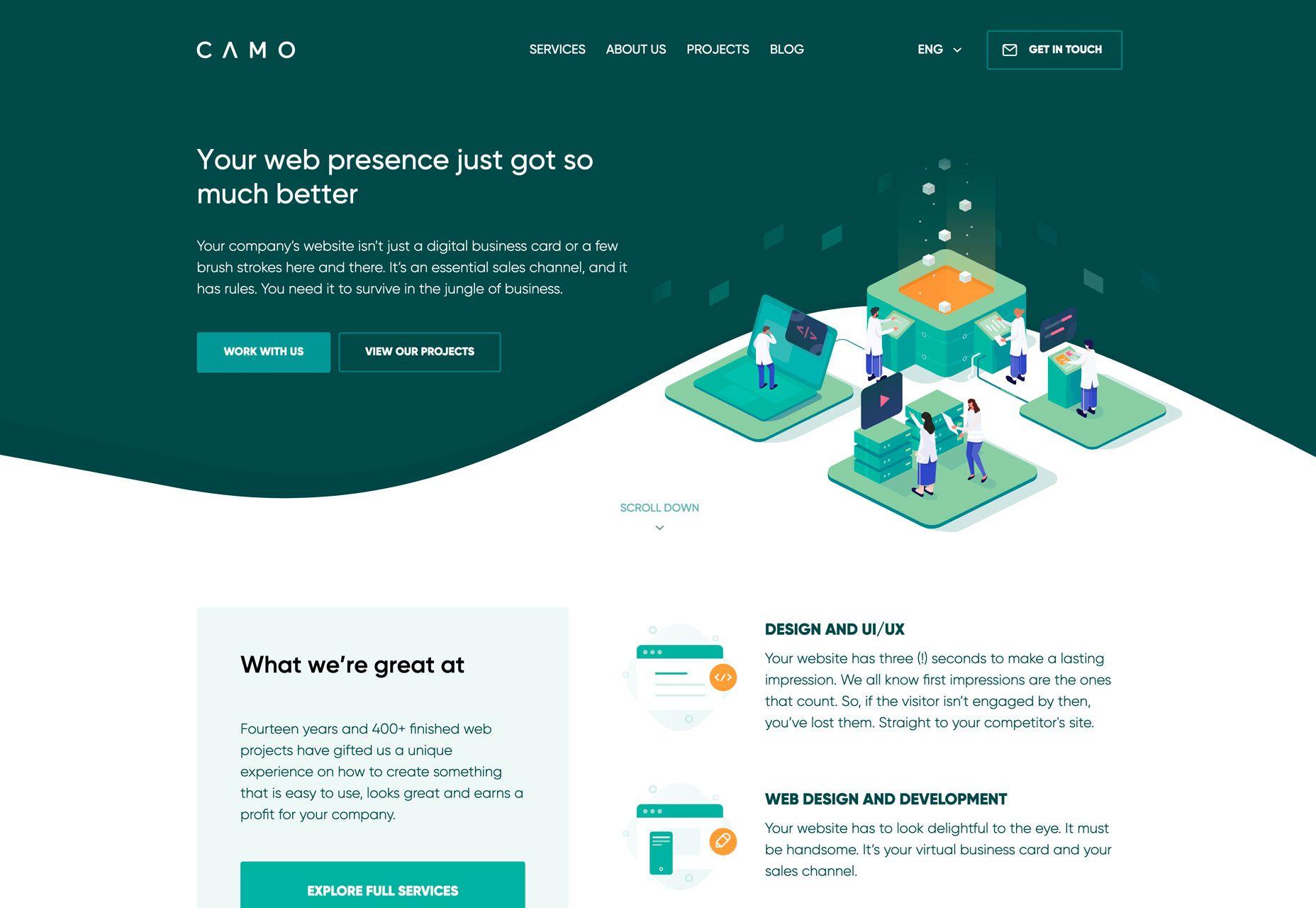 3 Essential Design Trends June 2019 Webdesigner Depot Corporate Web Design Digital Business Card Portfolio Web Design