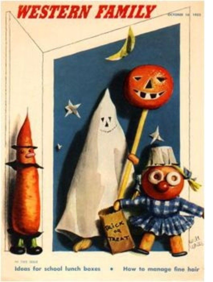 Western family ad halloween fun vintage halloween