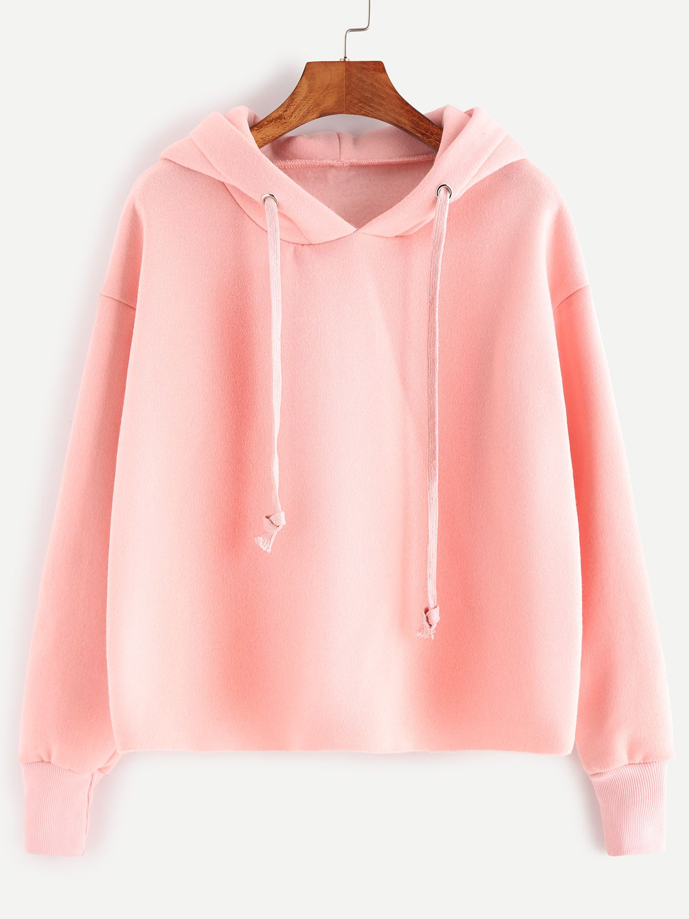 Dropped Shoulders Drawstring Hooded Sweatshirt | Sweatshirts ...