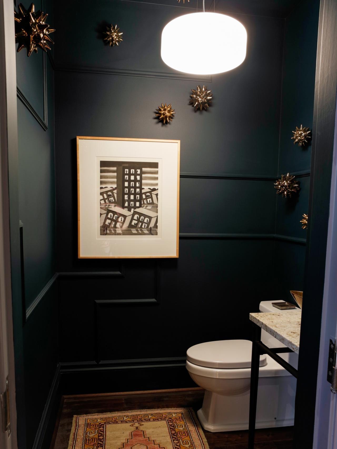 Bathroom Small Paint Ideas No Natural Light Tv Above Powder Room Dining Asian Large Nursery Bath Medit Small Dark Bathroom Stylish Bathroom Half Bathroom Decor