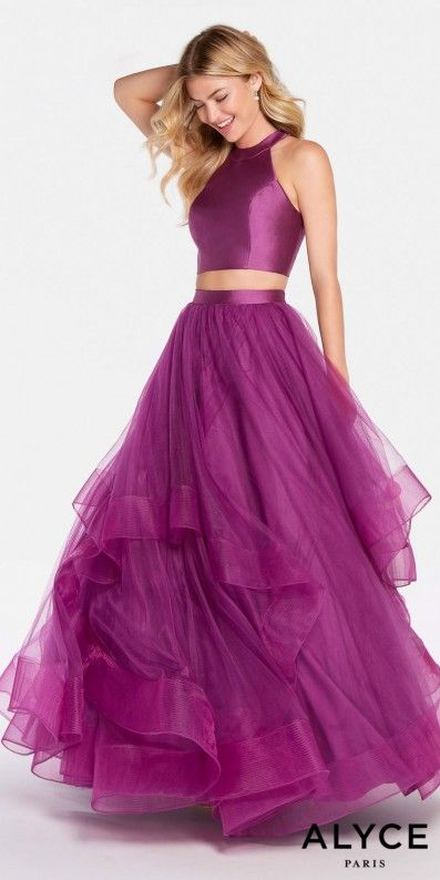 Simply fabulous and princess worthy, the Open Back Two Piece Tiered ...