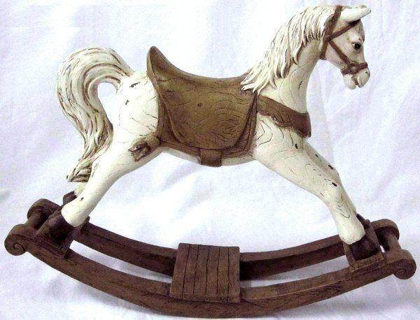 Cavallo A Dondolo Legno.Cavallo A Dondolo Marrone Cavalluccio Cavallino Idea Regalo