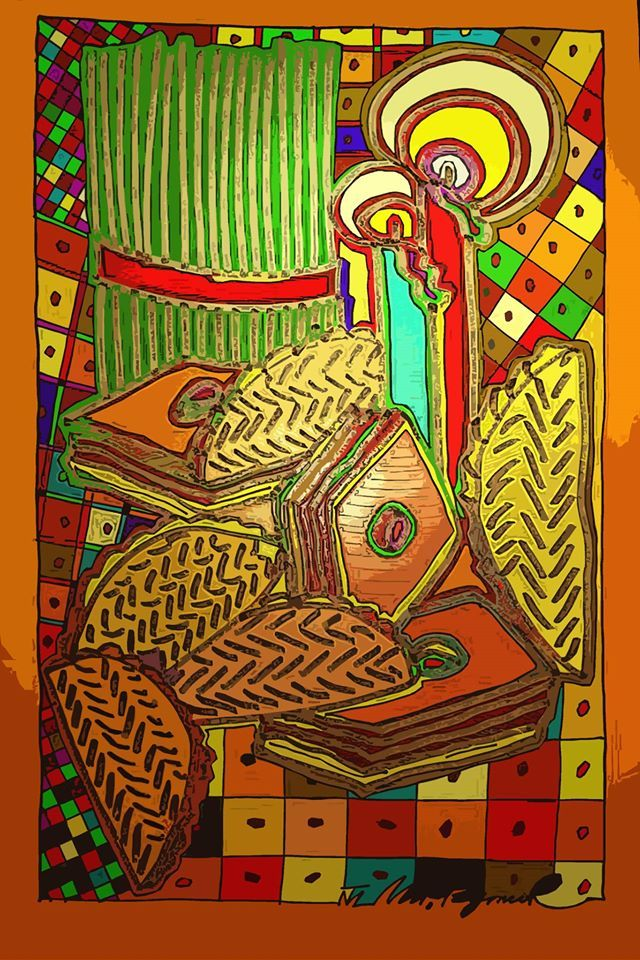 Novruz Bayram Pottery Painting Folklore Art Art