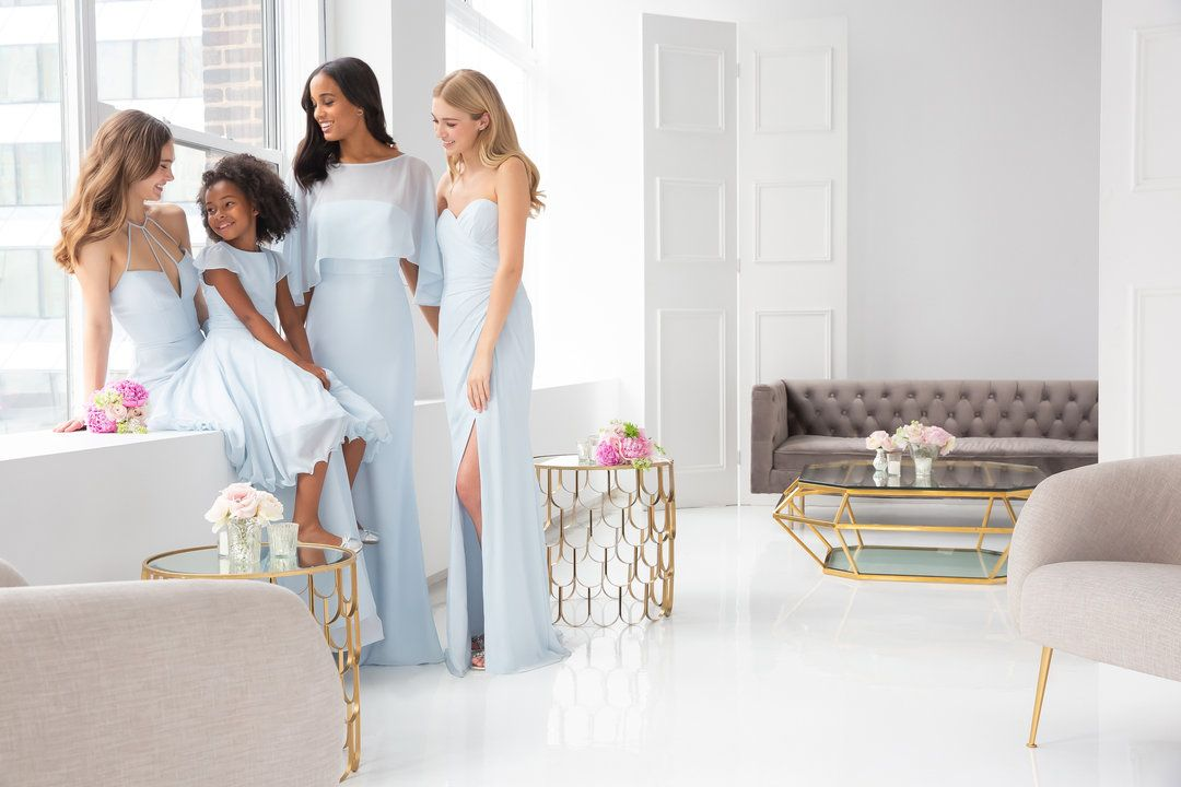 0f10da4985e8 Hayley Paige Occasions bridesmaids gowns-Styles 5911, 5913, and 5906. La  Petite Flower Girl dress-Style 5927(Piper)