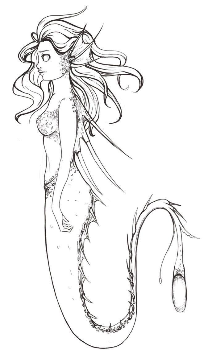 Pin On Creepy Mermaid