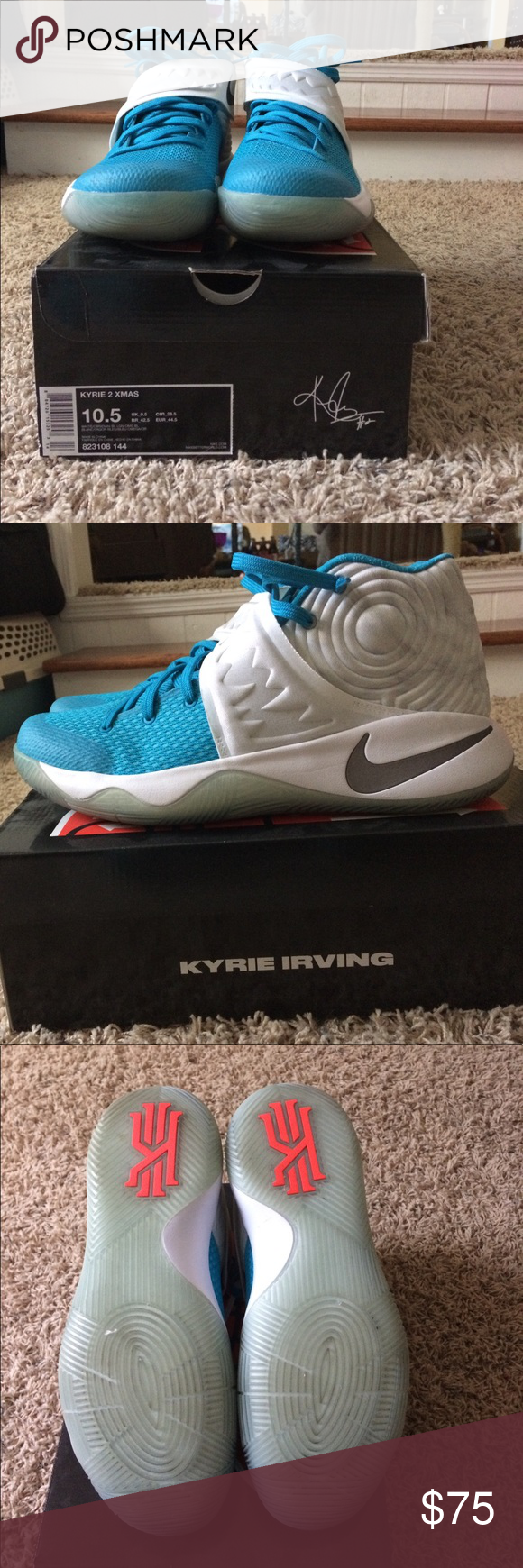 Men\'s Nike Kyrie 2 Xmas size 10.5 | My Posh Picks | Pinterest | Nike ...