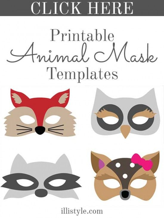 Halloween felt animal masks animal masks and masking for Woodland animal masks template