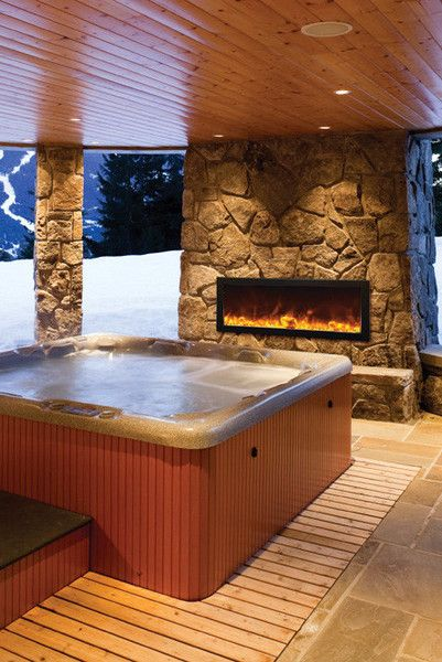 Pin On Outdoor Electric Fireplaces