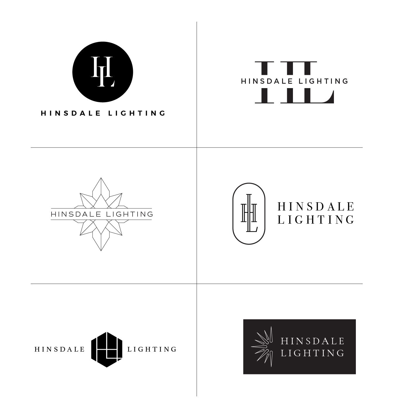 logo concepts for a lighting design