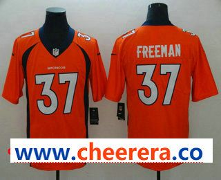 Men s Denver Broncos  37 Royce Freeman Orange Team Color 2017 Vapor  Untouchable Stitched NFL Nike Limited 00228d015