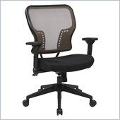 Office Star 213 Series AirGrid Back Seat Chair in Black and Latte Shop