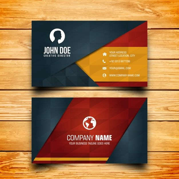 Business card design free vector vektrel izim pinterest business card design free vector reheart Image collections