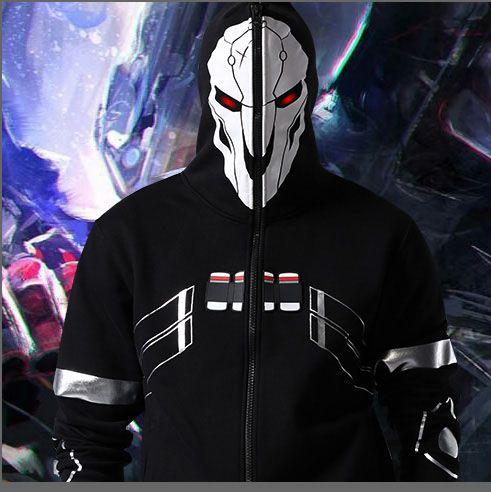98819121c 2016 New Blizzard Overwatch Reaper Cosplay Hoodies OW Game Hero ...
