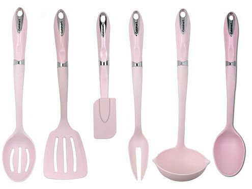 Pastel Pink Utensils Kitchens Wall