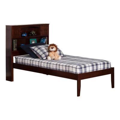 Atlantic Furniture Newport Walnut Twin Xl Platform Bed With Open