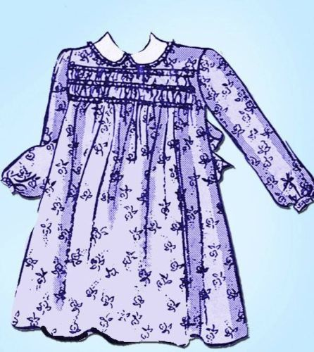 1940s Sweet Smocked Tot Dress Pattern Vintage 1942 Butterick Pattern Size 1 | eBay