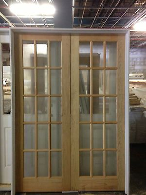 15 Lite Double Glass Pine French Door 57 1 2 X 82 French Doors French Doors Interior Double Glass