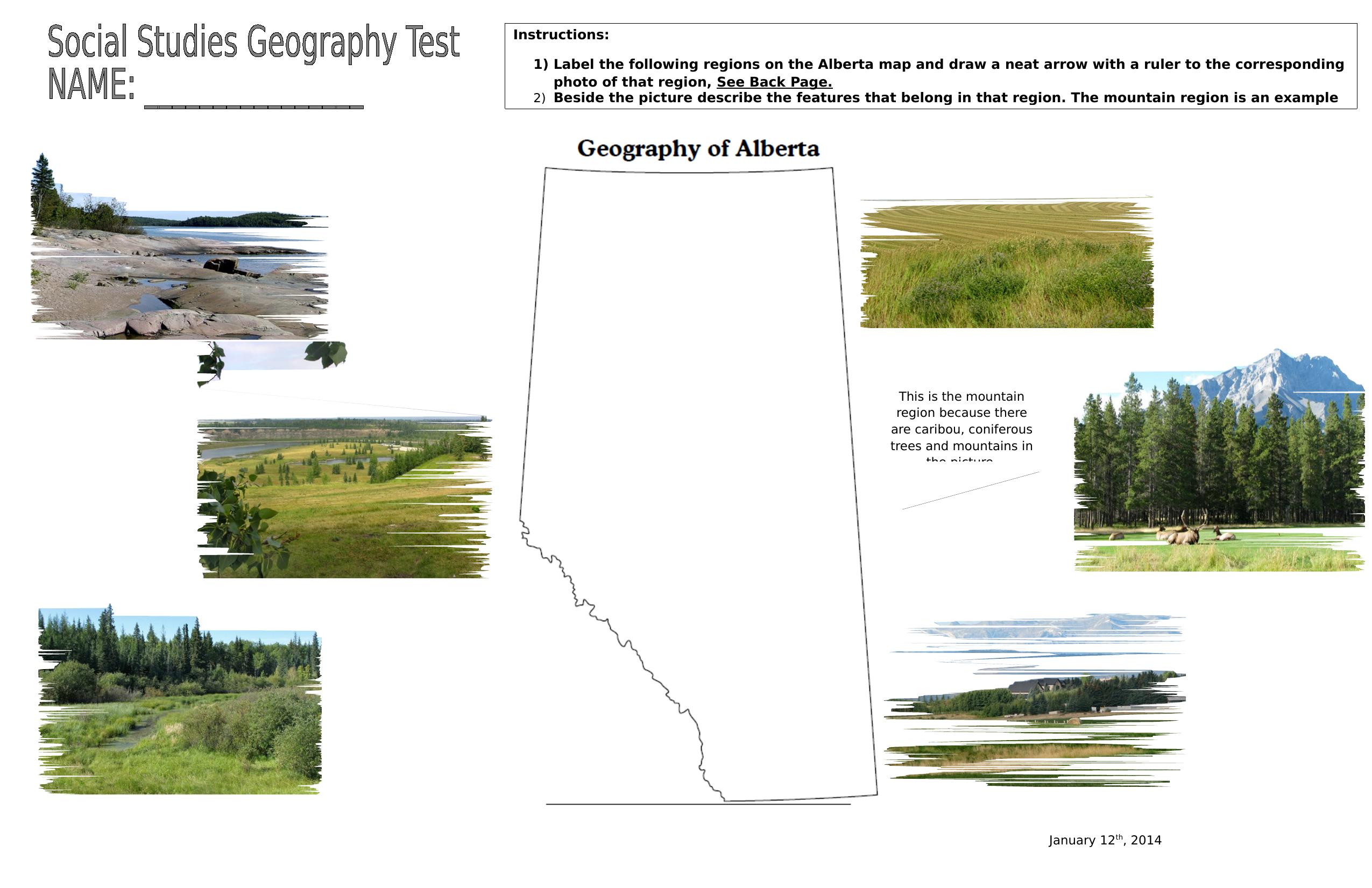Social Stu S Geography Final Assessment Part 1 Resource