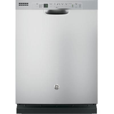 Ge Front Control Dishwasher In Stainless Steel With Hybrid Stainless Steel Tub And Steam Prewash Gdf620hsjss The Home Depot Built In Dishwasher Steel Tub Ge Dishwasher